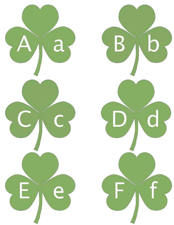 Alphabet Shamrocks