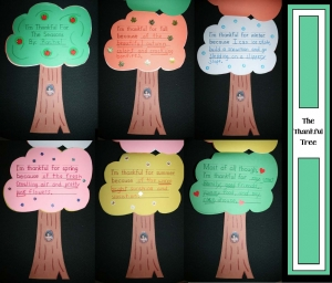Thankful Tree Writing Craftivity