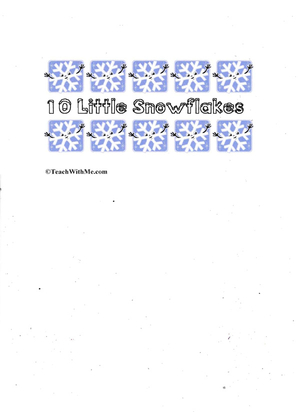 Booklet: 10 Little Snowflakes