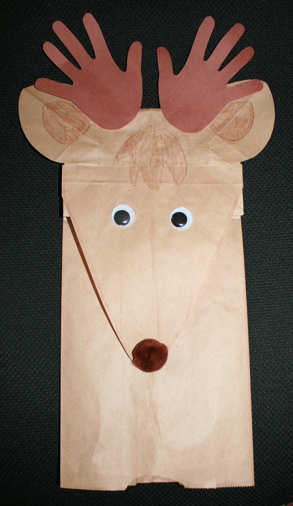 Reindeer Lunch Bag Puppet