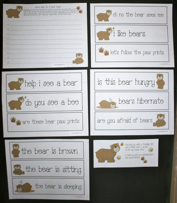 We're Goin' On A Bear Hunt Punctuation Activity