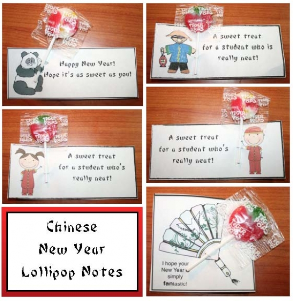 Chinese New Year Lollipop Notes