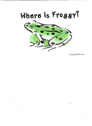 Booklet: Where Is Froggy?
