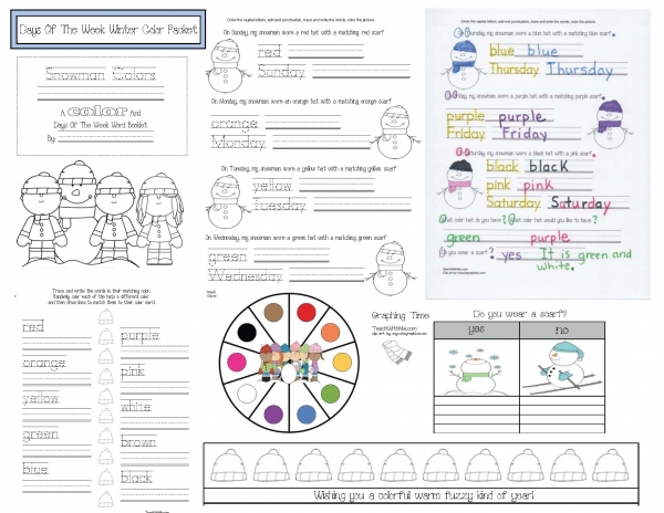 Snowman Colors: An Emergent Reader Booklet