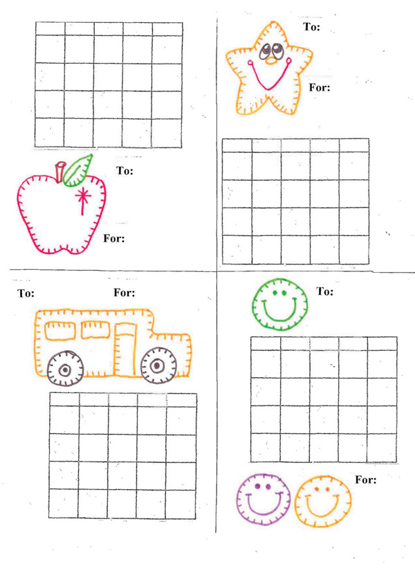 Free Monthly 4-On-A-Page Sticker Charts