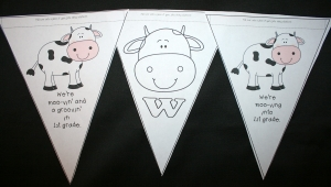 Back To School Cow Welcome Banner