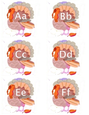 Alphabet Turkey Cards