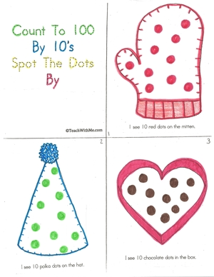 100 Day Counting By 10's Booklet