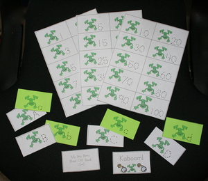Itty Bitty Frog Number & Alphabet Booklets