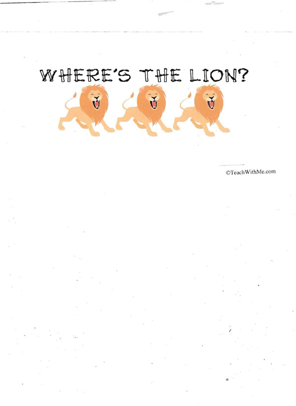 Booklet: Where's The Lion?