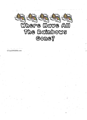 Booklet: Where Have All The Rainbows Gone?