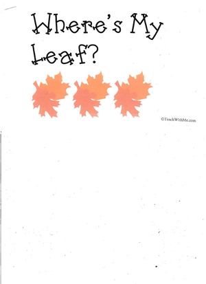 Booklet: Where's My Leaf?