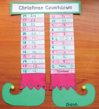Counting Down To Christmas Elf Craftivity