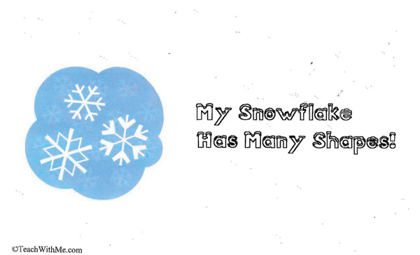 Booklet: My Snowflake Has Many Shapes