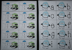 Alphabet Penguin Cards