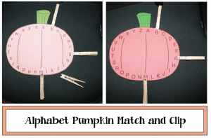 Alphabet Pumpkin-Matching Game