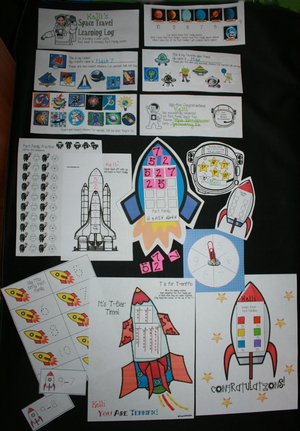 Blast Off Fact Family Packet