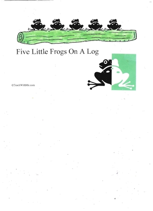 Booklet: 5 Little Frogs On A Log