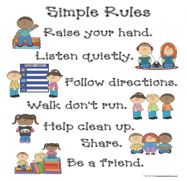 Simple Rules Classroom Poster