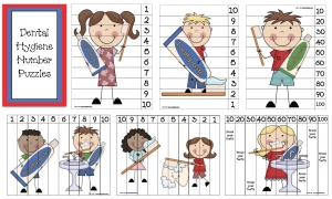 Dental Hygiene Number Puzzles
