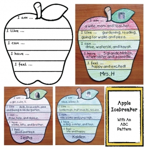 Apple Icebreaker Craftivity