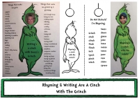 Rhyming and Writing are a Cinch With The Grinch