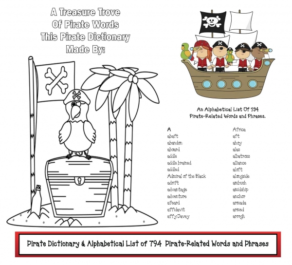 794 Pirate Words & Phrases Dictionary
