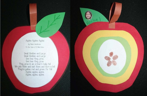 Apple Dangler Song Craftivity