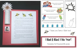I Had A Blast This Year Writing Prompt Craftivity & Bookmarks