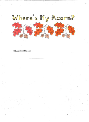 Booklet: Where's My Acorn