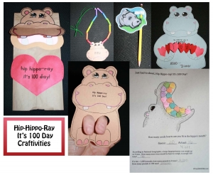 100 Day Activities: Hip Hippo Ray
