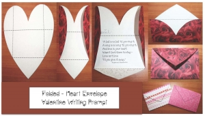 Folded Heart Envelope Writing Prompt