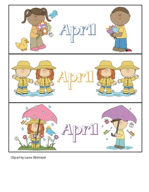 Calendar Cards For April