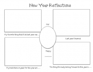 New Year Graphic Organizer Writing Prompt