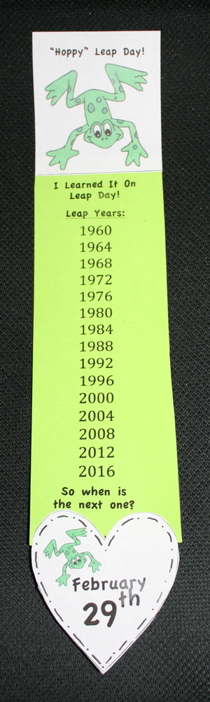Leap Year Big Banner Bookmark