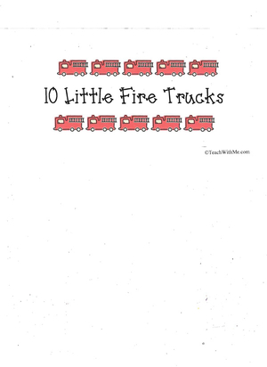 Booklet: 10 Little Fire Trucks