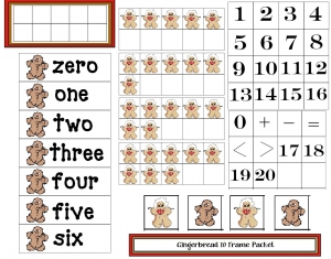 Gingerbread 10 Frames Packet