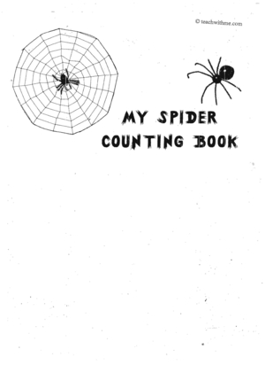 Booklet: My Spider Counting Book