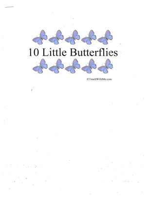 Booklet: 10 Little Butterflies