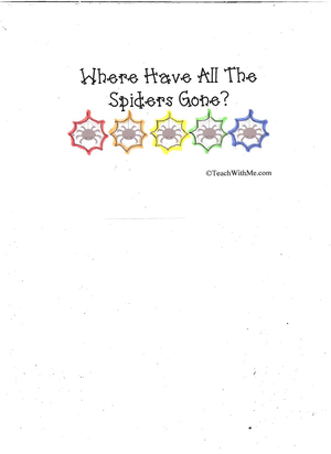 Booklet: Where Have All The Spiders Gone?