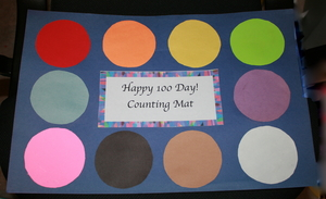 100 Day Counting by 10's Mat