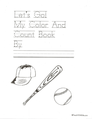 Let's Go Count and Color Baseball Booklet