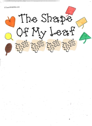 Booklet: The Shape Of My Leaf