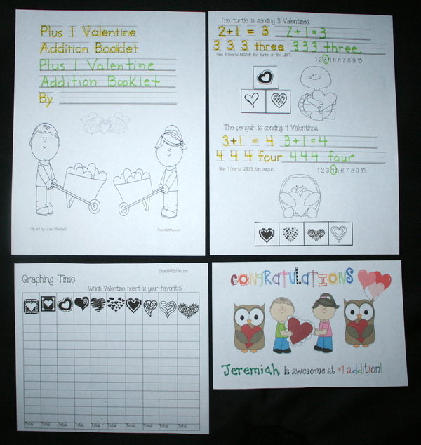 Plus 1 Valentine Addition Booklet