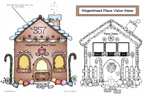 Place Value Gingerbread House
