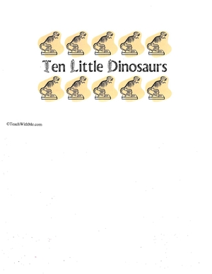 Booklet: 10 Little Dinosaurs
