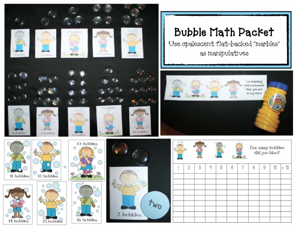Back To School Bubble Blowing Math Activity