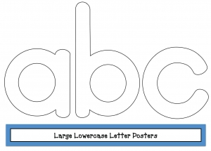 Large Lowercase Letter Posters