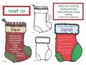 Stuff It! Christmas Stocking Writing Prompt Craft