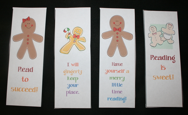 Gingerbread Bookmarks